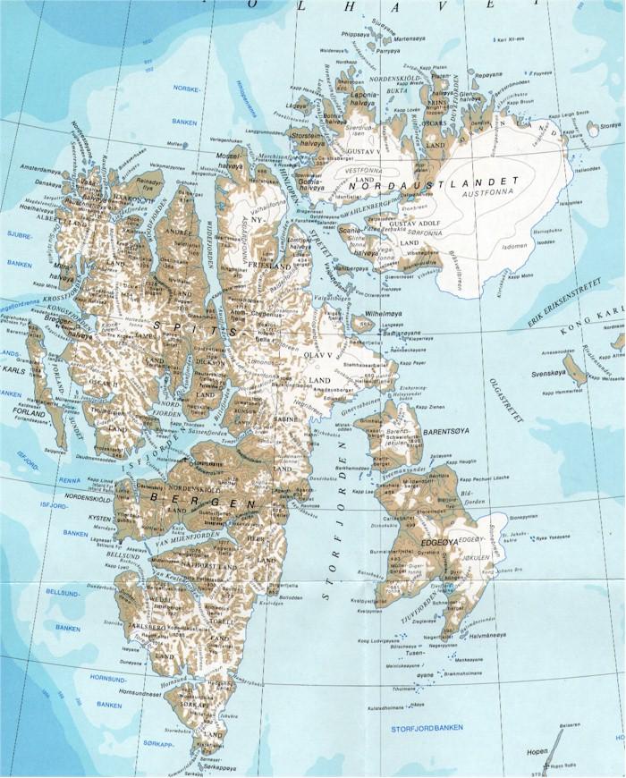 Map - Svalbard map