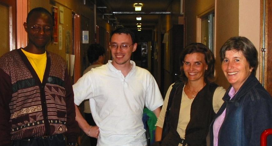 Orsay, 2006, avec Sandrine, Cyrille et Bruno